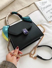 Fashion Black Chain Shoulder-shoulder Messenger Bag