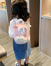 Fashion Pink Cartoon Children's Backpack