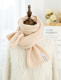 Fashion Beige Knitted Wool Scarf