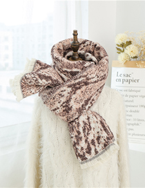 Fashion Pink Crepe Imitation Cashmere Scarf