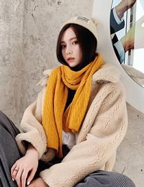 Fashion Turmeric Knitted Wool Scarf