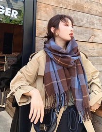 Fashion Lattice Cashmere Plaid Scarf Shawl