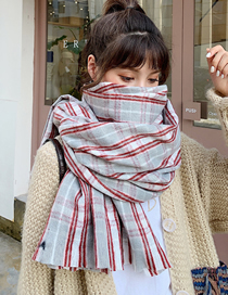 Fashion Gray Short Whiskered Scarf