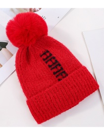 Fashion Red Velvet Knitted Wool Cap