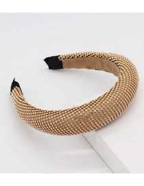 Fashion Gold Full Diamond Headband