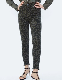 Fashion Leopard High Waist Jeans