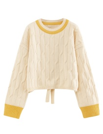 Fashion Creamy-white Baby Elephant Pullover