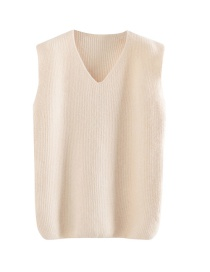 Fashion White V-neck Sweater Vest