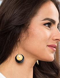 Fashion Black Shaped Natural Freshwater Pearl Earrings