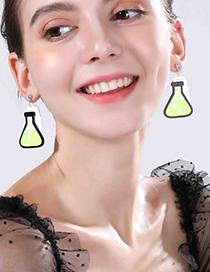 Fashion Yellow Measuring Cup Earrings