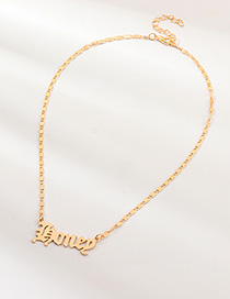 Fashion Gold Letter Honey Necklace