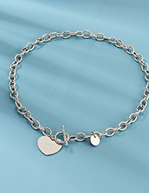 Collar De Cadena Love Circle Lettering Loveyoumore