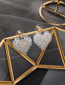 Fashion Main Picture 925 Silver Needle Crystal Love Heart Earrings