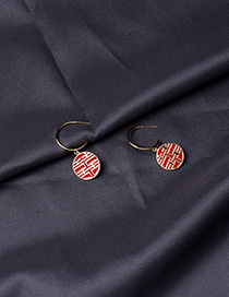 Fashion Round Chinese Fu Love Heart Earrings