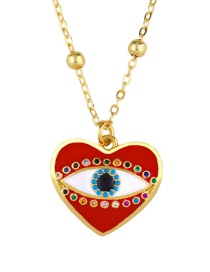 Fashion Red Heart Heart Drop Necklace