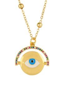 Fashion Eye Diamond Angel Necklace