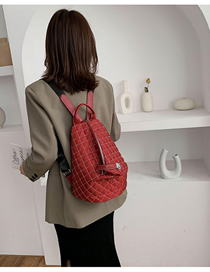 Fashion Red Checkered Shoulder Bag