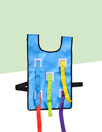 Fashion Blue Vest Tail Sticky Jersey Outdoor Children's Toys