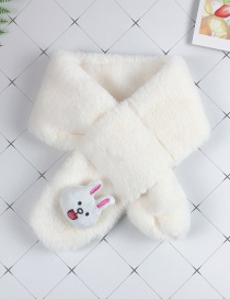 Fashion Bunny White Children's Cartoon Animal Plush Cross Scarf