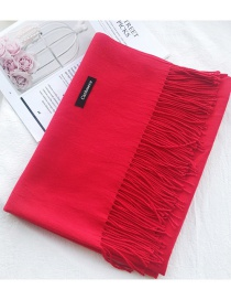 Fashion Red Cashmere Shawl Scarf