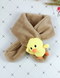 Fashion Khaki Children's Faux Rabbit Fur Scarf