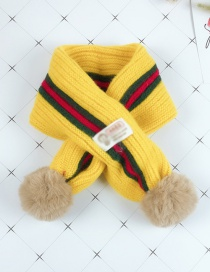 Fashion Yellow Color Matching Yarn Ball Children's Bib