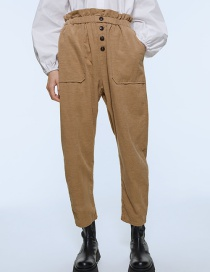 Fashion Khaki Corduroy Pants