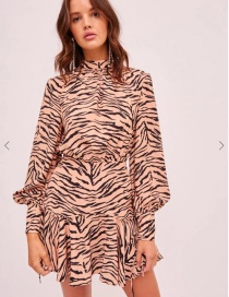 Fashion Zebra Pattern Zebra Print Dress