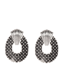 Fashion Silver Alloy Silver Stud Earrings