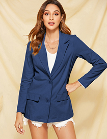 Fashion Blue Small Suit