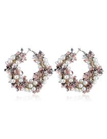 Fashion Pink Garland Earrings