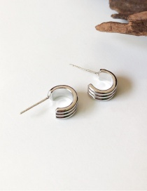 Fashion Silver Small Ring Thick With Hoops Earrings