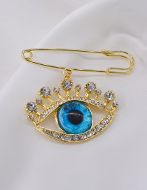 Fashion Gold Pearl Eye Brooch