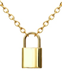 Fashion Gold Lock Metal Necklace