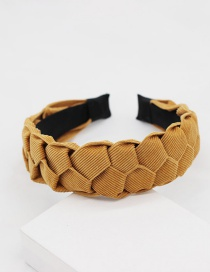 Fashion Yellow Twist Fabric Geometric Headband