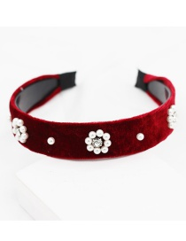 Fashion Red Pearl Headband