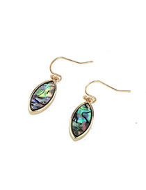 Fashion Horse Eye Shell Paint Water Drops Six-way Horse Eye Resin Earrings
