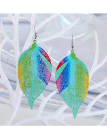 Fashion Green Color Leaf Earrings