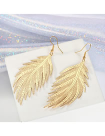 Fashion Gold Leaf Earrings