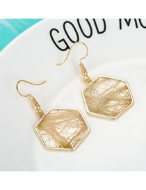 Fashion Transparent Irregular Line Messy Hexagonal Earrings