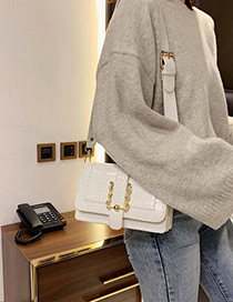 Fashion White Crocodile Shoulder Crossbody Bag