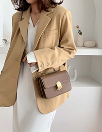 Fashion Khaki Locking Messenger Bag
