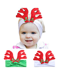 Fashion 2-color Mixing Christmas Little Antlers Children's Hair Band