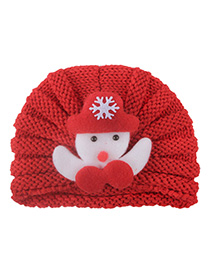 Fashion Red Knitted Wool Baotou Cap