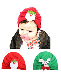 Fashion 2-color Mixing Cartoon Pattern Children's Hat