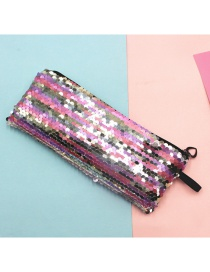 Fashion Colorful Mermaid Two-color Sequin Pencil Case