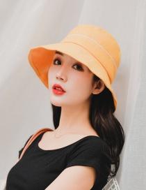 Fashion Yellow Sunscreen Folding Fisherman Hat