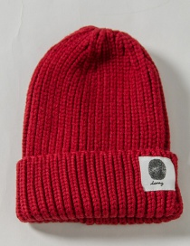 Fashion Red Patch Wool Cap Adult (56-60)