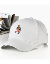 Fashion Beer-white Embroidered Letter Cartoon Baseball Cap
