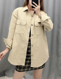 Fashion Khaki Tooling Wind Shirt